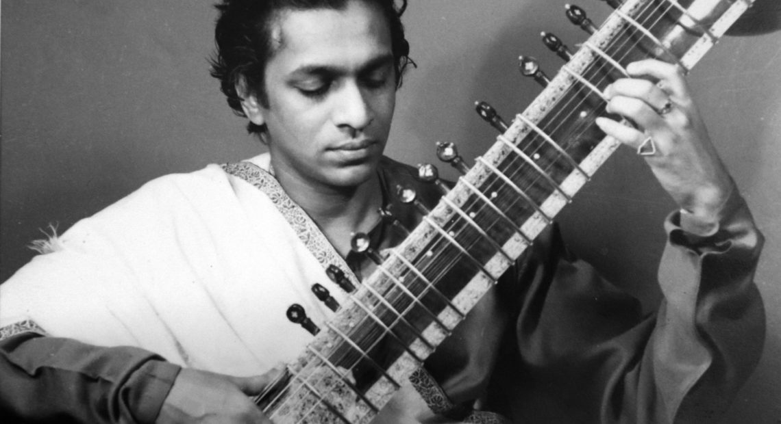 Pictured here in his late 20s, Ravi Shankar was hugely important in popularizing Indian classical music in Western pop music. He would have turned 100 years old today. Courtesy of the Shankar family