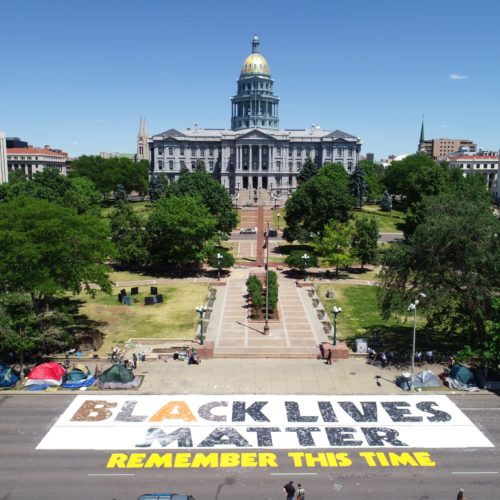 Black Lives Matter outside Colorado Statehouse. CREDIT: Mountain West News Bureau
