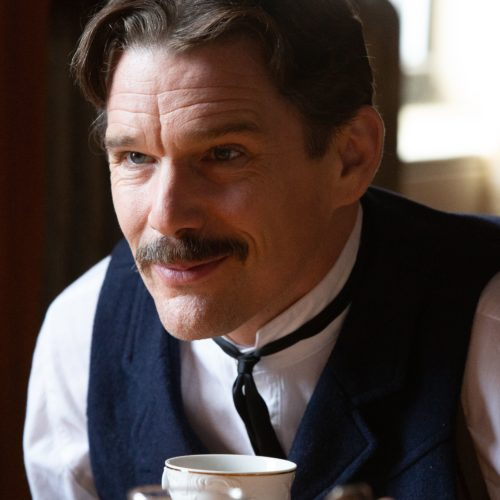Ethan Hawke plays Serbian American inventor Nikola Tesla in the playful new biopic, Tesla. CREDIT: IFC Films