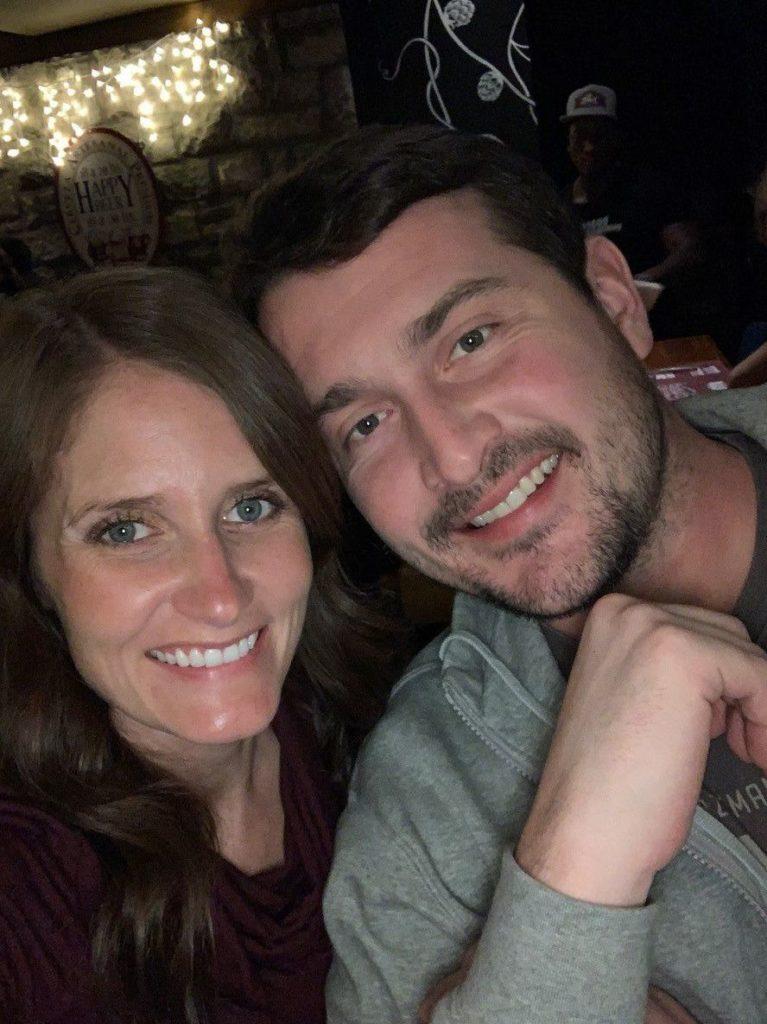 Sam Bloechl with his wife, Megan