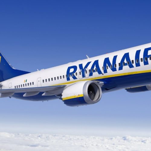 European airline Ryanair is ordering 75 Boeing 737 Max airplanes, the two companies announced Thursday. CREDIT: Boeing