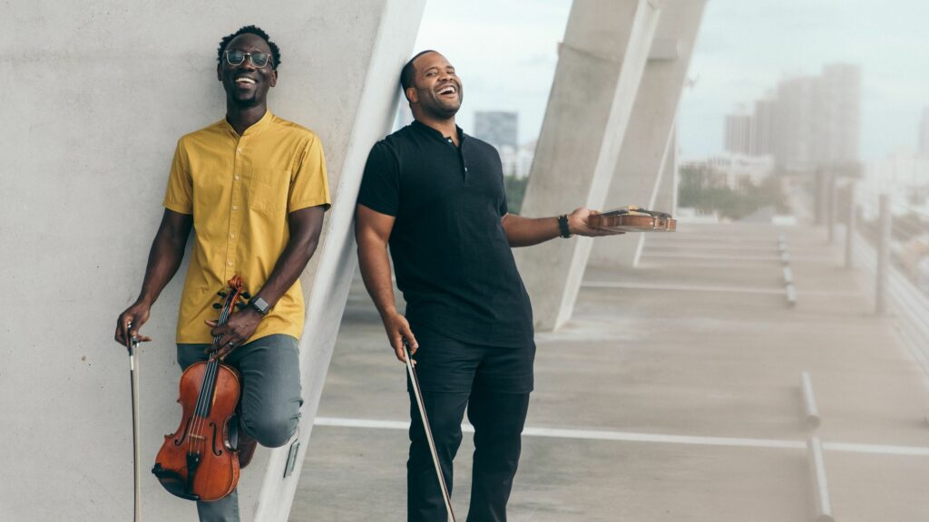 "The Fort Lauderdale duo Black Violin wrote ""Time to Shine"" after reflecting on what happened last year and ringing in the new one. Mark Clennon/Courtesy of the artist"