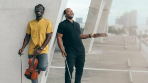 """The Fort Lauderdale duo Black Violin wrote """"Time to Shine"""" after reflecting on what happened last year and ringing in the new one. Mark Clennon/Courtesy of the artist"""